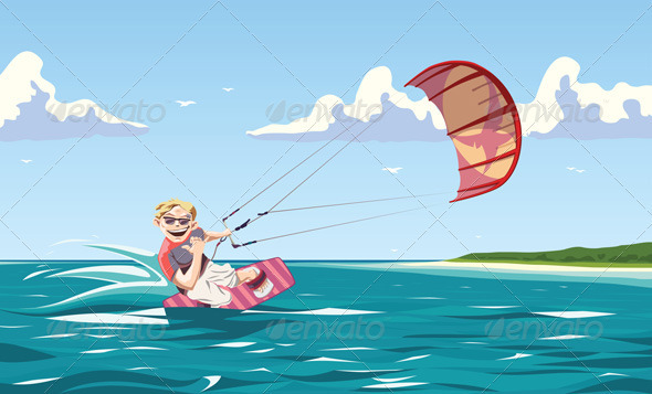 Kitesurfer - Sports/Activity Conceptual