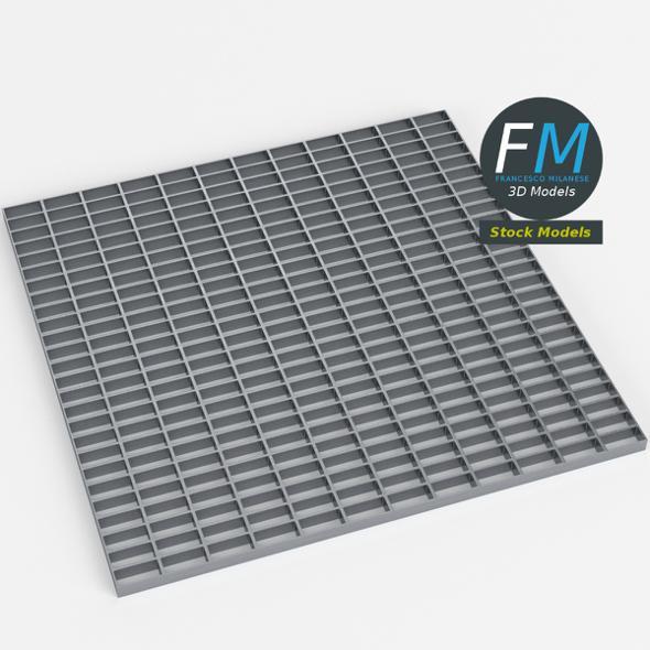 Open mesh steel grating flooring
