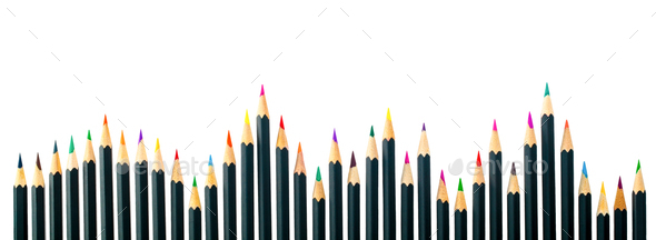 Pencils on white background isolate concept - Stock Photo - Images