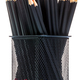 Colored pencils in office rack on white background isolate - PhotoDune Item for Sale