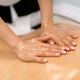 Woman receiving a back massage with massage candle oil - PhotoDune Item for Sale