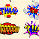 Cartoon Text Explosions - GraphicRiver Item for Sale