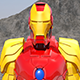 Iron Man flies through the mountains and orbits the earth