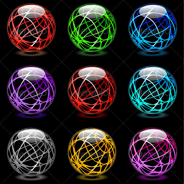 Glossy spheres - Objects Vectors