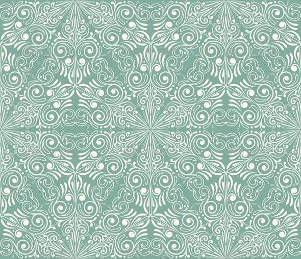 Vector Seamless Winter Pattern with Snowflakes - Patterns Decorative