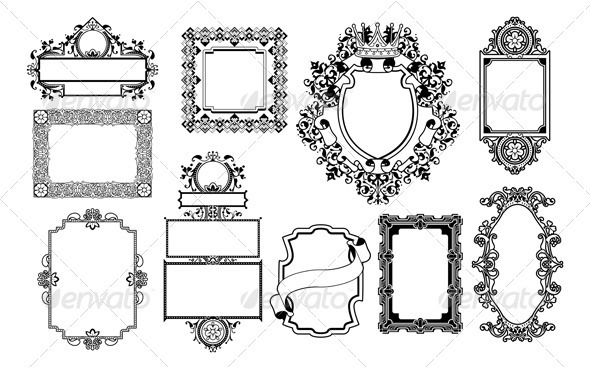 Graphic design decorative frames - Borders Decorative