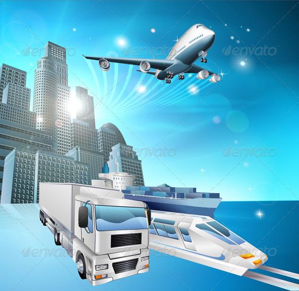 Logistics city concept - Travel Conceptual