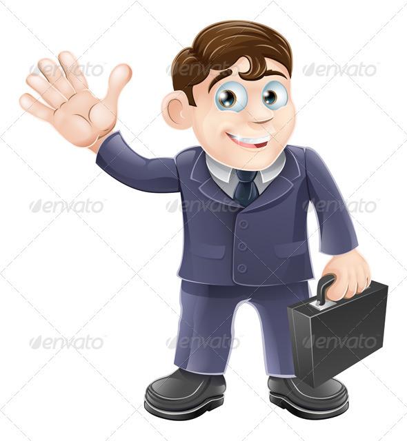 Happy cartoon business man - Characters Vectors