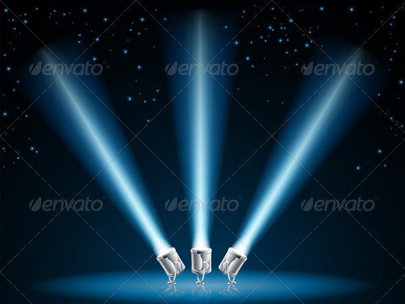 Search or spot lights illustration - Miscellaneous Conceptual