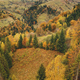 Autumn mountain forest aerial. Sun nobody nature landscape. Rural road at village. Countryside - PhotoDune Item for Sale