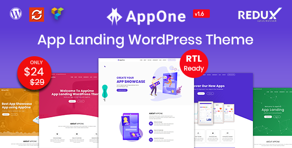 AppOne - App Landing WordPress Theme