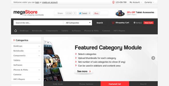 MegaStore – OpenCart Theme