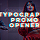 Typography Promo Opener - VideoHive Item for Sale