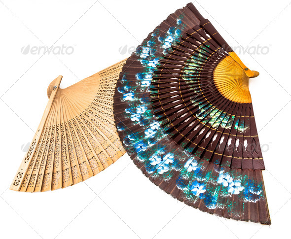 Two spanish fan - Stock Photo - Images