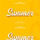 Summer 3D Text Effect Style