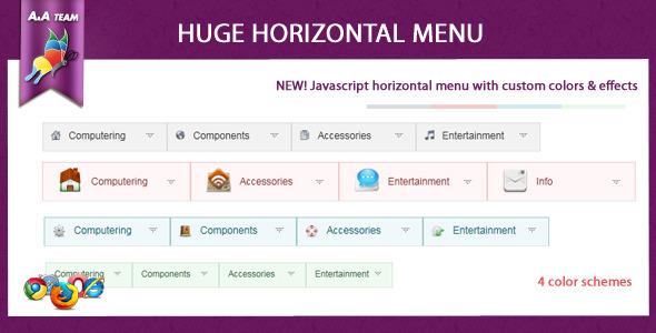 Javascript Huge Horizontal Menu - CodeCanyon Item for Sale