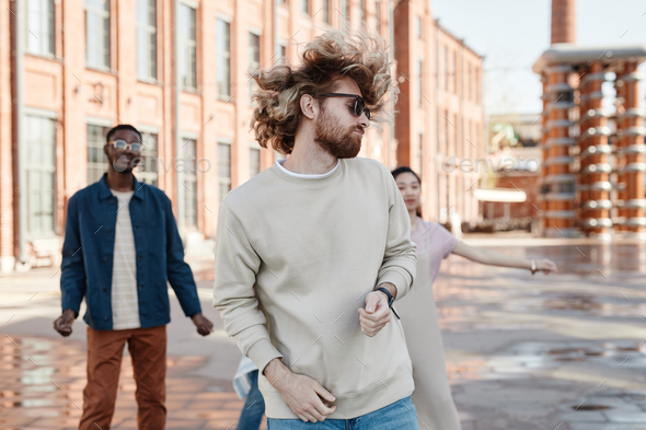 Young People Dancing in City - Stock Photo - Images