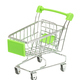 Toy metal shopping cart empty on white background isolate - PhotoDune Item for Sale