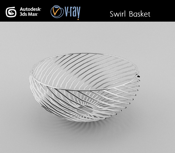 Swirl wire Basket - 3DOcean Item for Sale