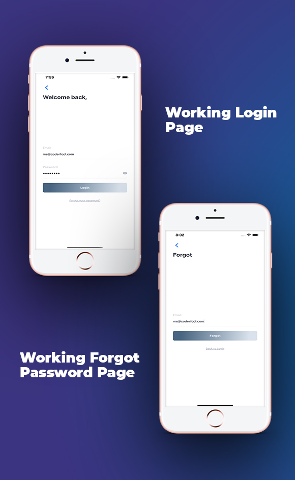 React Native Login/Sign Up Template With Firebase Integration - 3