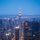 New York City Skyline with Urban Skyscrapers at Night Aerial View - PhotoDune Item for Sale