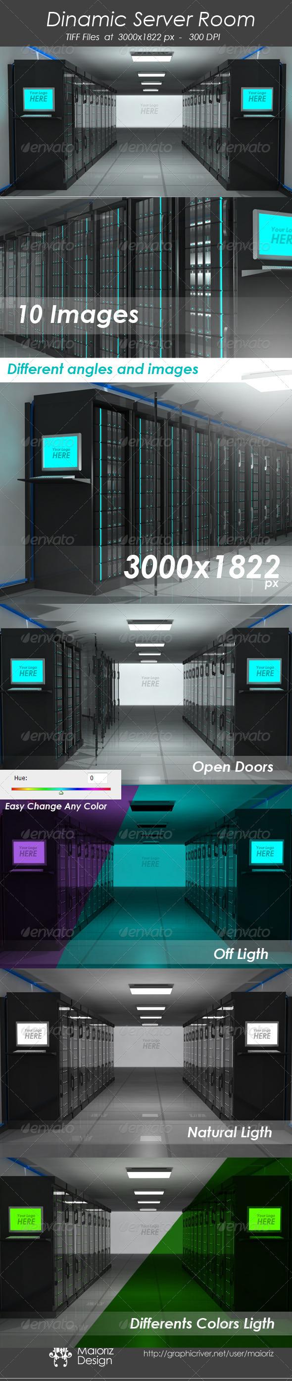 Dinamic Servers Room - Technology 3D Renders