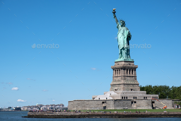 The Statue of Liberty at New York City - Stock Photo - Images