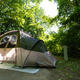 Camping tent on the campground in the spring - PhotoDune Item for Sale