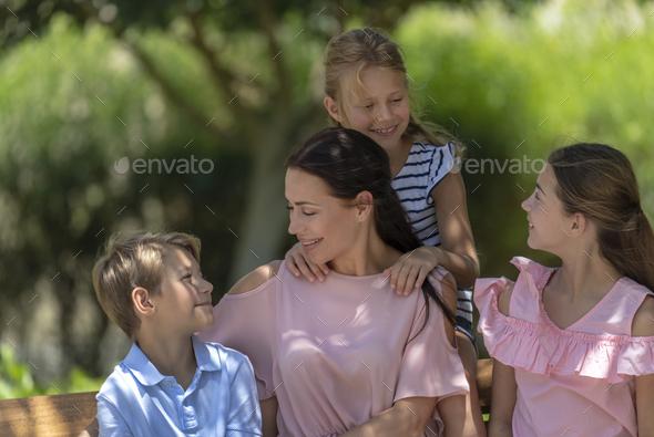 Big Family Portrait - Stock Photo - Images