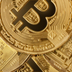 Group of golden bitcoins - PhotoDune Item for Sale