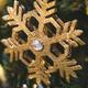Gold flashing snowflake with diamond close-up as Christmas tree decor - PhotoDune Item for Sale