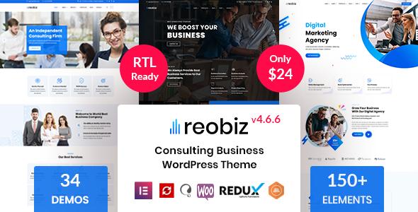 Incredible Reobiz - Consulting Business WordPress Theme