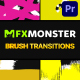 Brush Transitions | Premiere Pro MOGRT - VideoHive Item for Sale
