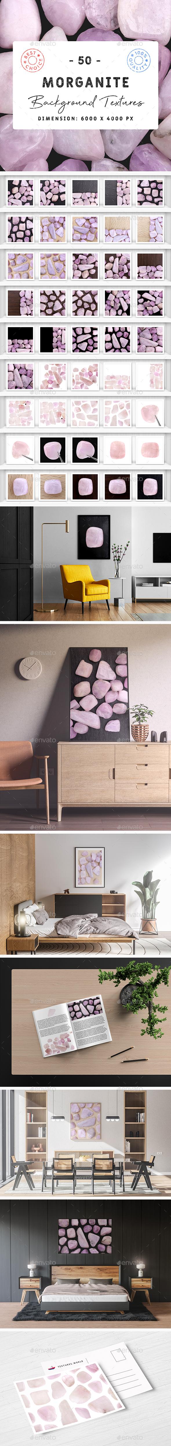 50 Morganite Background Textures