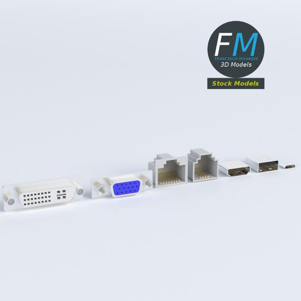 Computer ports sockets