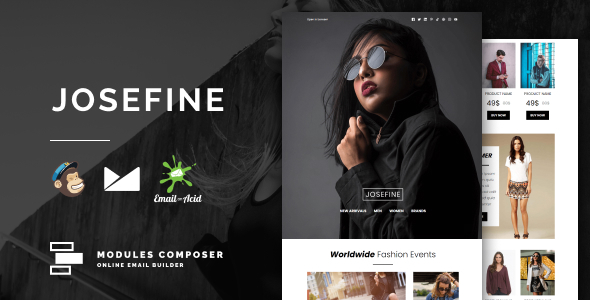 Josefine - E-commerce Responsive Email for Fashion & Accessories with Online Builder