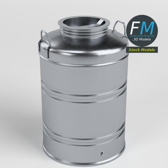 Closed drum for olive oil