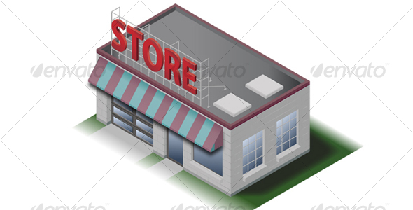 Little Store Icon - Buildings Objects