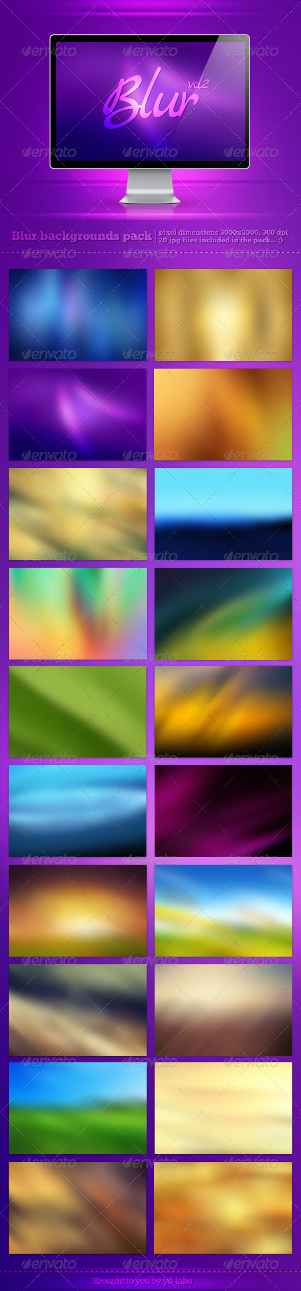 Blur Backgrounds Pack 2 - Abstract Backgrounds