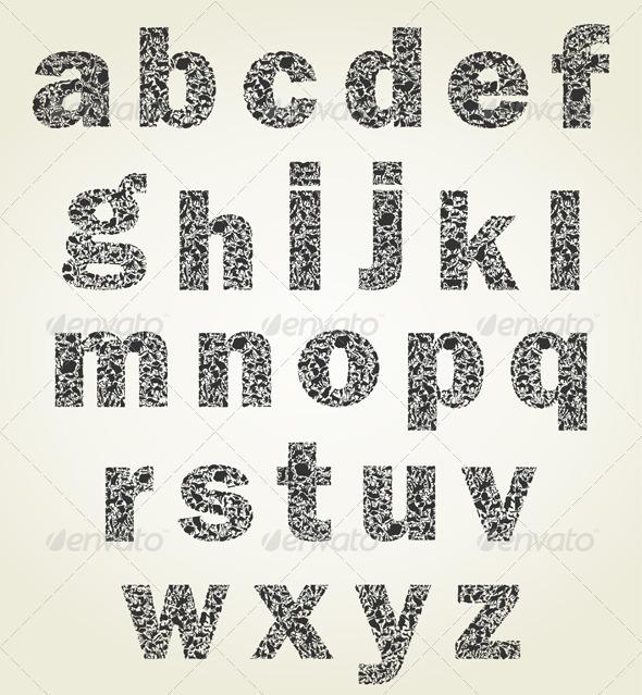 Animal alphabet - Miscellaneous Vectors