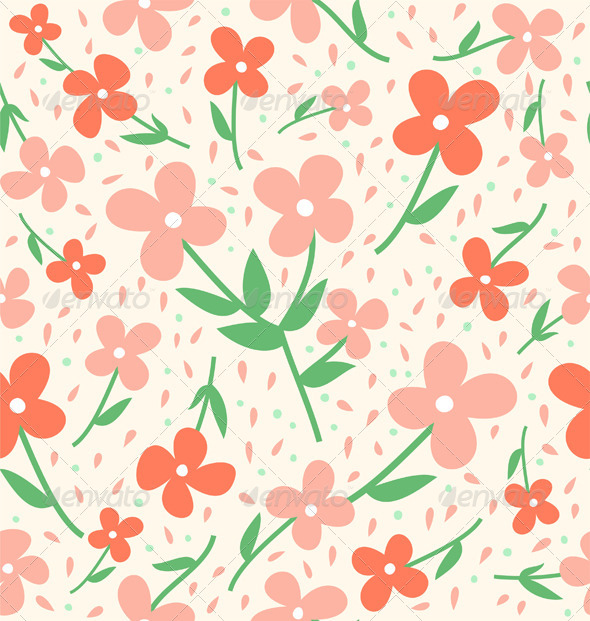 Seamless flower pattern - Patterns Decorative