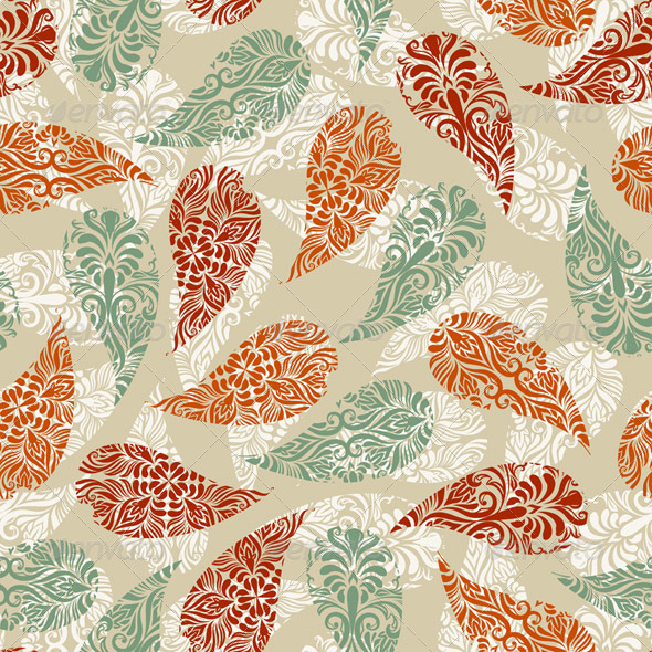 Vector Paisely Vintage Seamless Pattern - Patterns Decorative