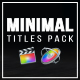 Minimal Titles Pack for FCPX - VideoHive Item for Sale