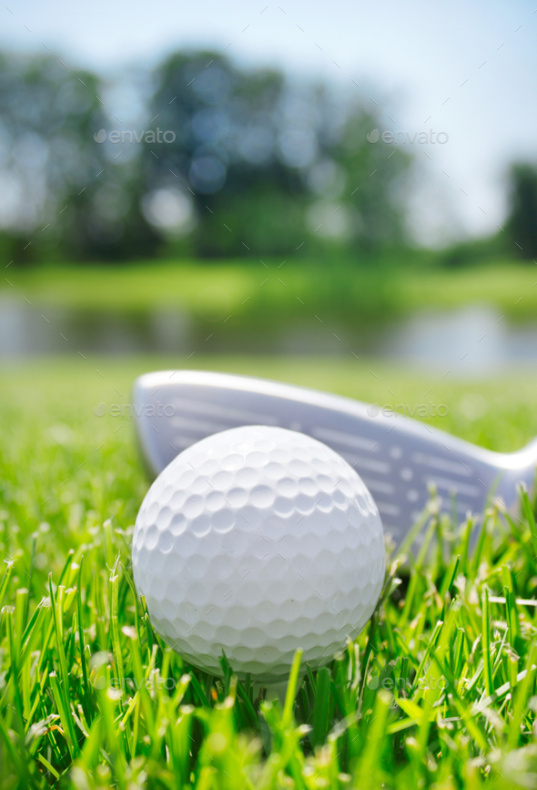 Golf club and ball - Stock Photo - Images