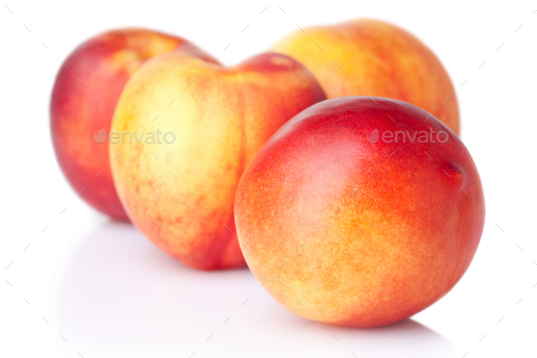 Ripe nectarines - Stock Photo - Images