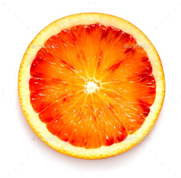 Slice of blood orange - Stock Photo - Images