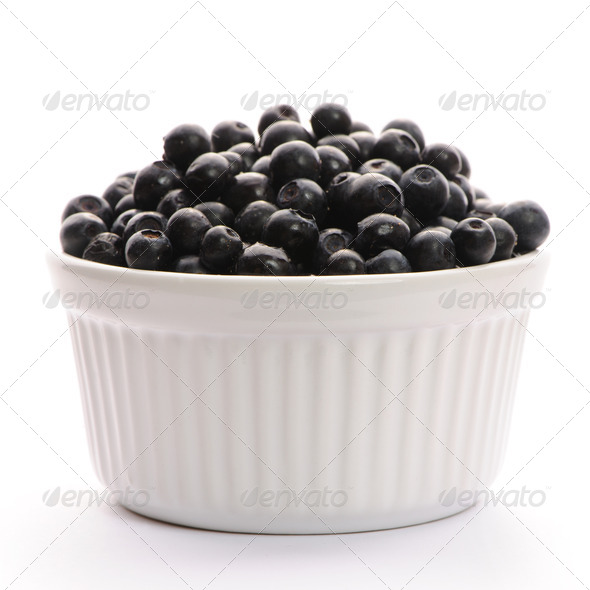 Blueberry in bowl - Stock Photo - Images