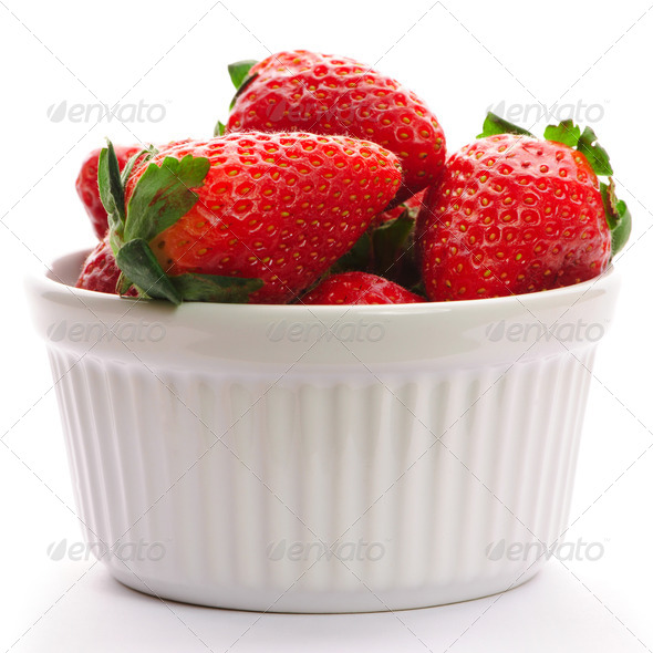 Strawberry in bowl - Stock Photo - Images