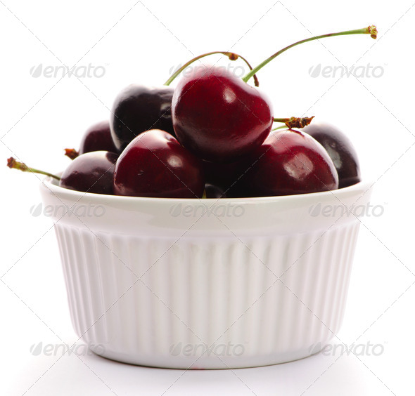 Cherry in bowl - Stock Photo - Images