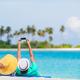 Happy couple taking a photo on white beach on honeymoon holiday - PhotoDune Item for Sale